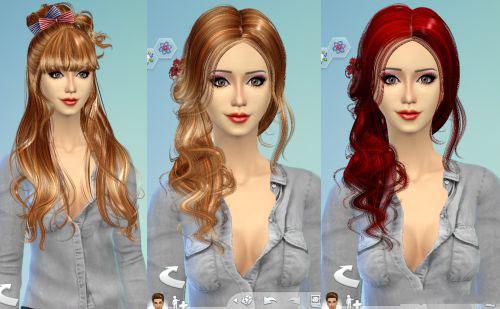 模拟人生4女神唯美时尚发型MOD