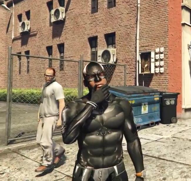 侠盗猎车手5富兰克林变身蝙蝠侠MOD高清图片