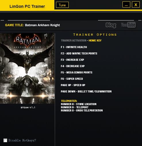 蝙蝠侠:阿甘骑士v1.1修改器+10