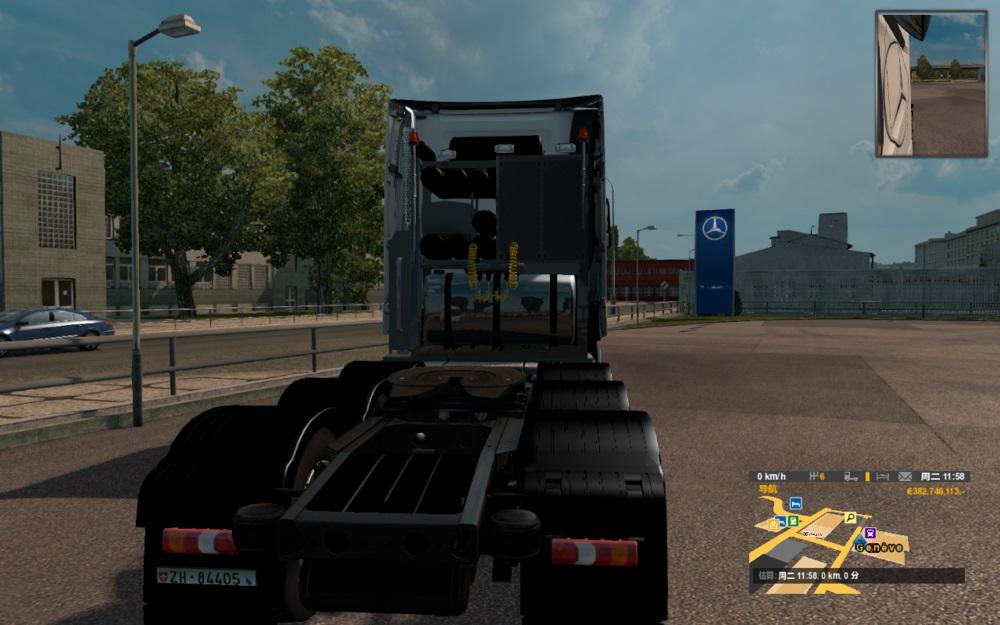 欧洲卡车模拟2新奔驰MP4底盘MOD