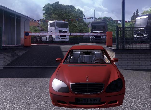 欧洲卡车模拟2奔驰轿车S600MOD