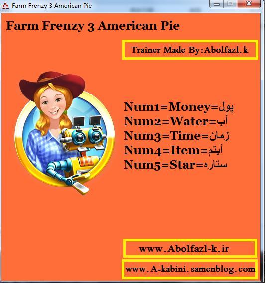 疯狂农场3美国派修改器+5