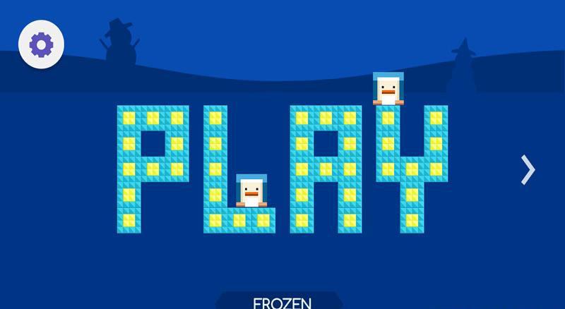 在游戏中,玩家需要操控一只方块小动物进行一场神奇的冒险.
