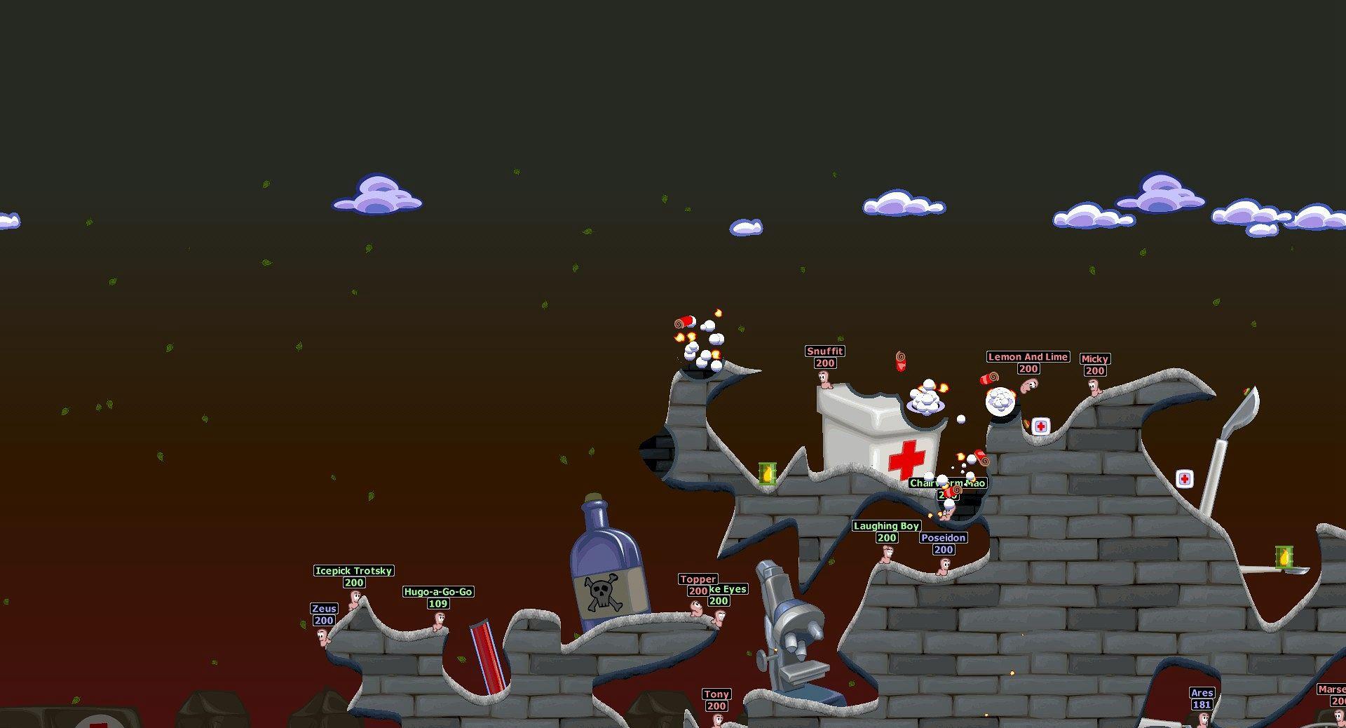百战天虫:世界派对重制版Steam版截图1