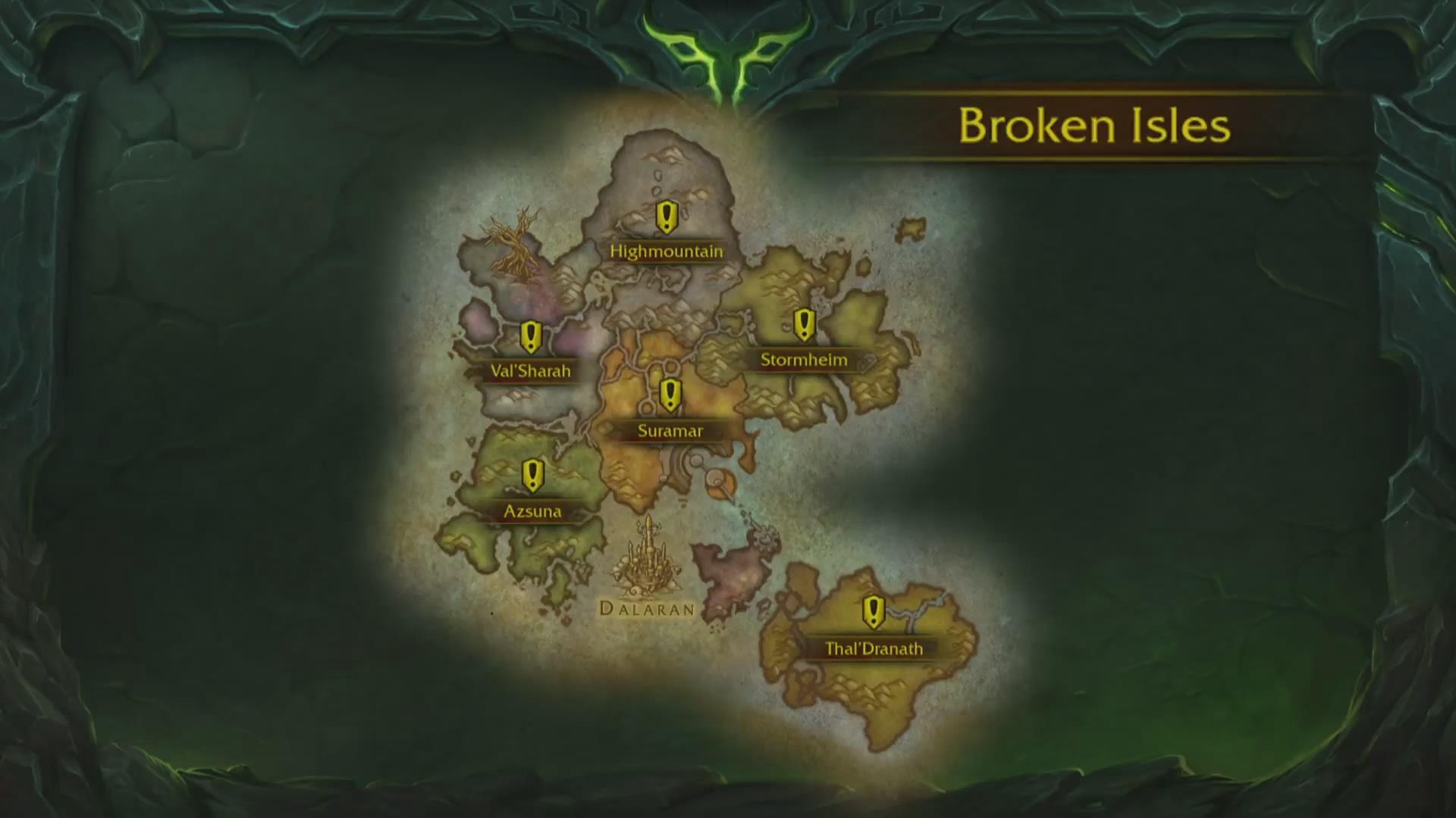魔兽世界7.0破碎群岛最新无删减地图