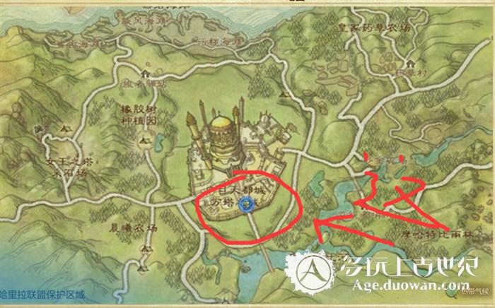 2.我们接下来要去的地图乃是:咏唱之地志温牧场,打开地图m