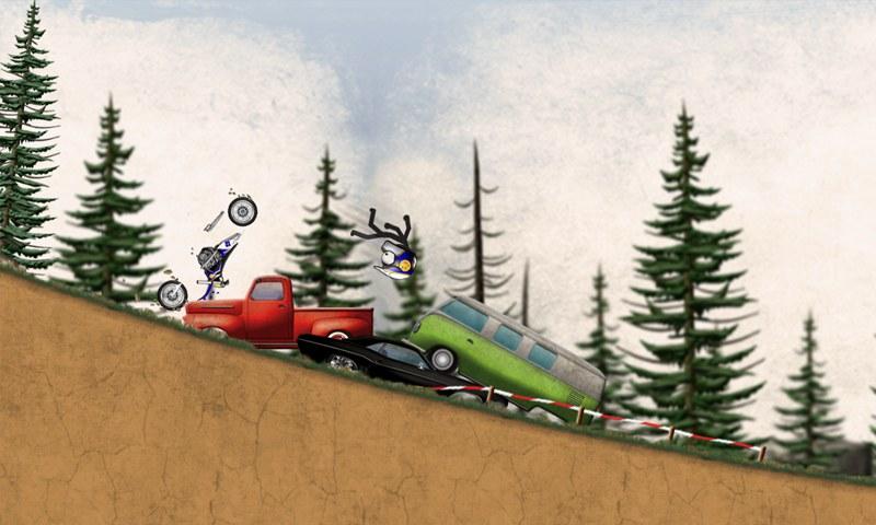 火柴人下坡:越野摩托车 汉化版v2.0_截图