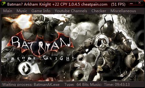 蝙蝠侠:阿甘骑士v1.0.4.5修改器+22