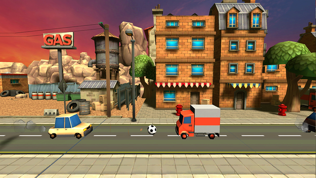 汽车足球射击挑战赛ios官方版v1.0.0截图1
