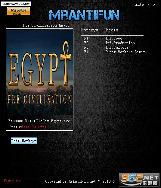 古埃及文明V1.0修改器+4