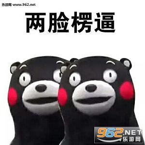 熊本熊呆呆的表情很适合做可爱懵逼的表情,通过表情就能让你感受到懵