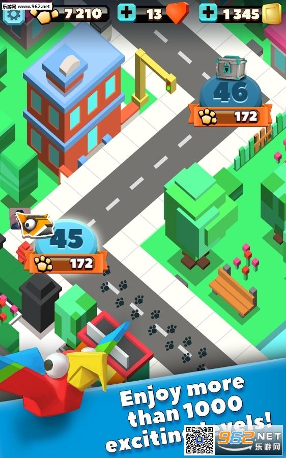 《动物大逃亡》(Wild City Rush)是一款休闲益智游戏,游戏画面采用了像素的风格,同时游戏中所有的小动物的造型都非常可爱,在游戏中数以百计的野生动物,来到了繁华的大城市,你需要帮助他们渡过在城市中的危险,并逃回森林。