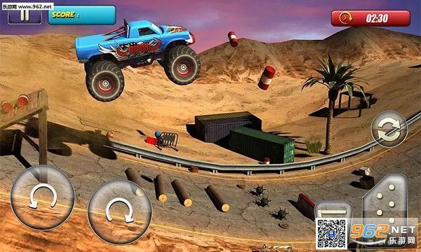 怪物卡车骑士3D无限金钱修改版v1.2_截图0