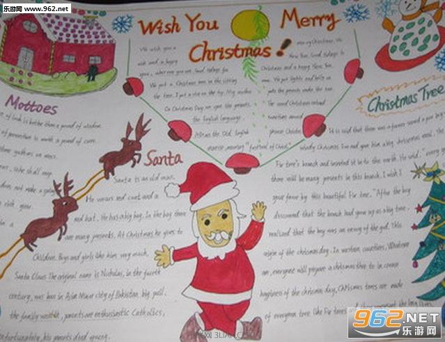 圣诞节手抄报内容英文中文资料大全
