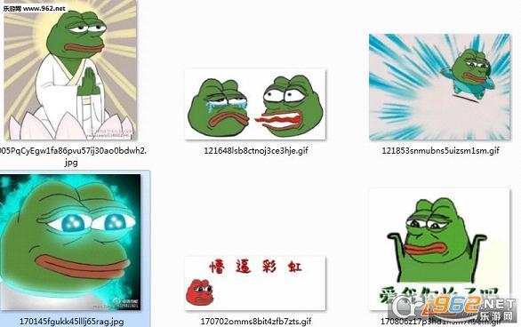 悲伤蛙魔性表情包图片