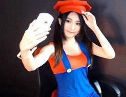 台湾美女主播艾瑞斯直播cosplay马里奥图集