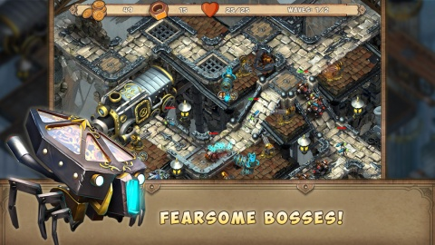 钢铁雄心:蒸汽之塔 Iron Heart: Steam Tower TD IOS版v1.0.2_截图1