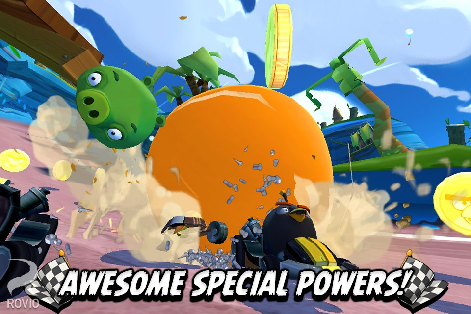愤怒的小鸟卡丁车 Angry Birds Go!无限金币钻石修改版(新春版)v1.12.0_截图0