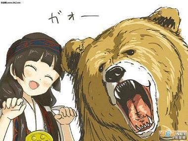 当女孩遇到熊精美q萌漫画图|熊巫女图包(50p)下载-乐