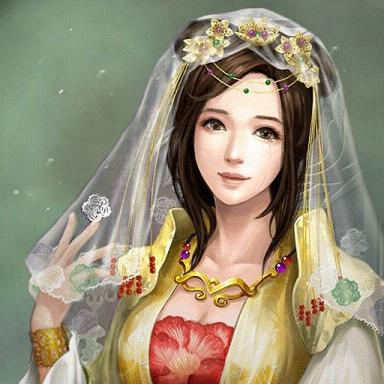 古风手绘异族女子