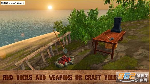 《海岛生存3D Pirate Island Survival 3D》是一款休闲娱乐游戏。游戏中,你独自一人在一座海岛上,你要努力在这里生存下去!你会遇到各种野兽,请利用双手或是工具击杀它们吧!狩猎、捕鱼、制造工具和武器你所做的一切,都是为了生存啊!