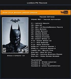 蝙蝠侠阿甘起源修改器+12