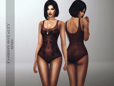 模拟人生4性感黑色蕾丝紧身衣MOD