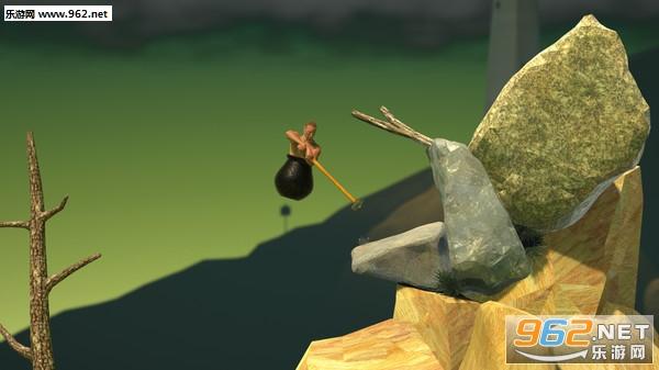 装在罐子里的人用锄头爬山游戏v1.0_截图