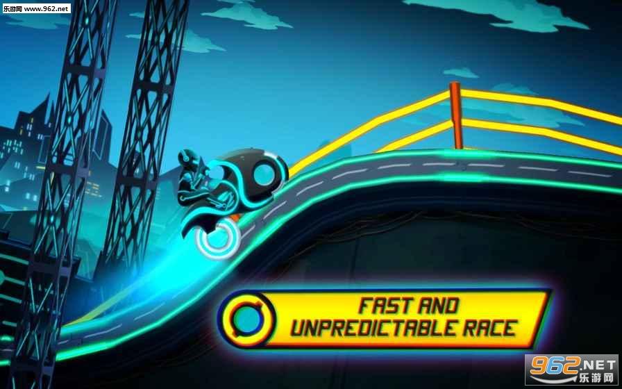 摩托车比赛霓虹城的骑手破解版v3.15_截图