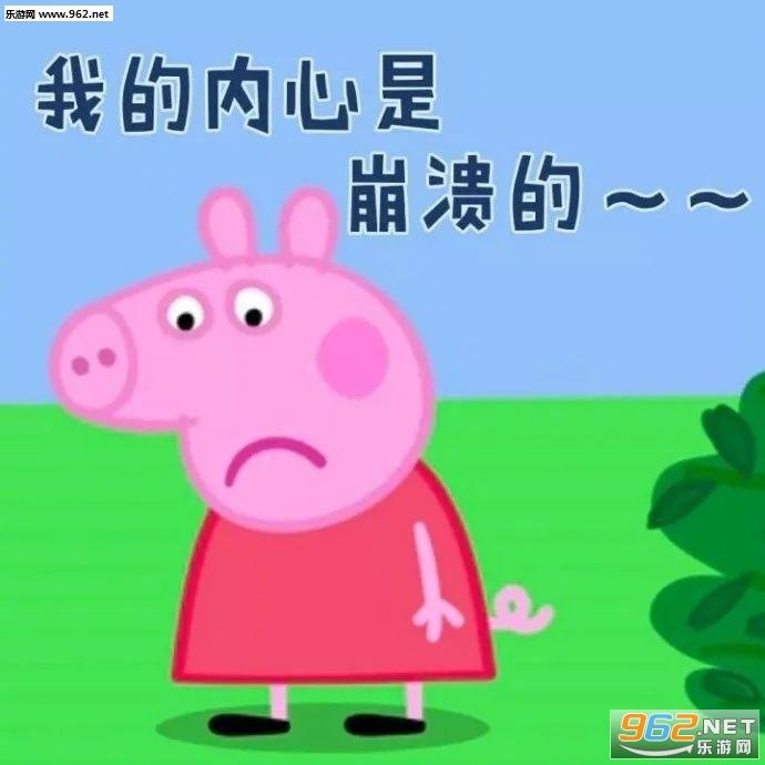 小猪佩奇表情金子带字的图片信表情包图片微图片