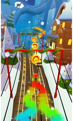 地铁跑酷1.8.2破解版圣诞版截图1
