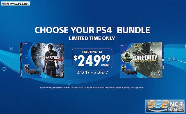 《神秘海域4》《使命召唤13》促销 捆绑PS4主机套餐仅售250美元
