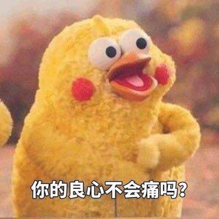 你的良心不会痛吗小鸡表情包图片