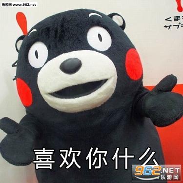 熊本熊敲喜欢你表情包 我也不知道为什么喜欢你熊本熊表白表情包下载