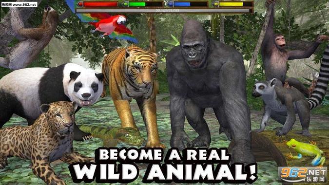 丛林动物模拟器中文破解版|丛林动物模拟器汉化版