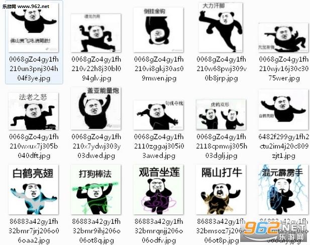 武功人熊猫斗图招式十八流量完整版的搞笑图片表情图片