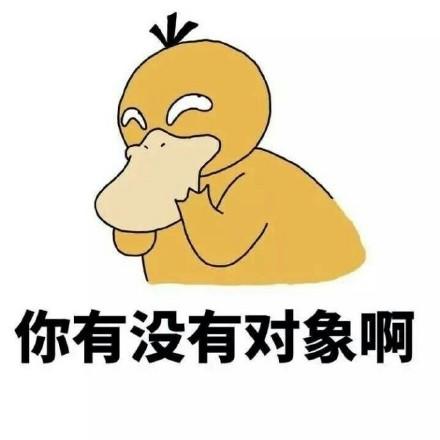 你有没有对象啊可达鸭表情包图片