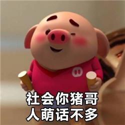 猪小屁图片合集小猪跑步表情表情图片