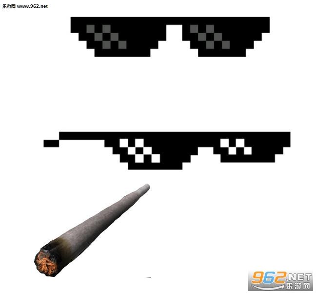 戴墨镜叼烟表情包图片