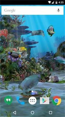3D水族馆手机动态壁纸截图2
