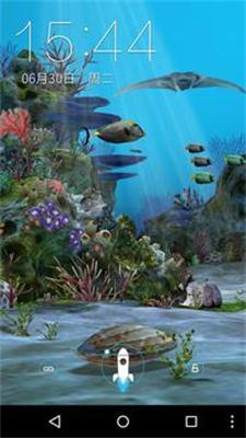 3D水族馆手机动态壁纸截图3