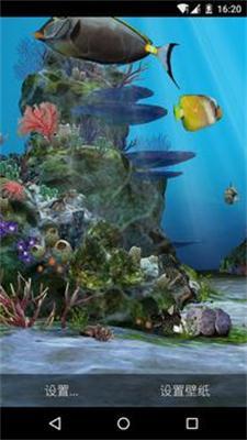 3D水族馆热带鱼动态屏保(可喂鱼)截图1