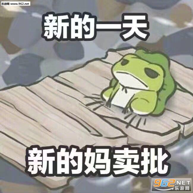 曾梦想仗剑走天涯因太胖放弃了计划养青蛙表情包图片