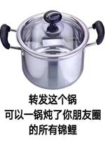 转发这个锅可以一锅炖了你朋友圈所有的锦鲤表情包图片
