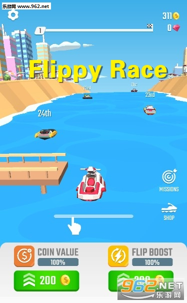 ������Ħ��ͧ���ٵ���Ϸ��  ��Flippy Race���淨����