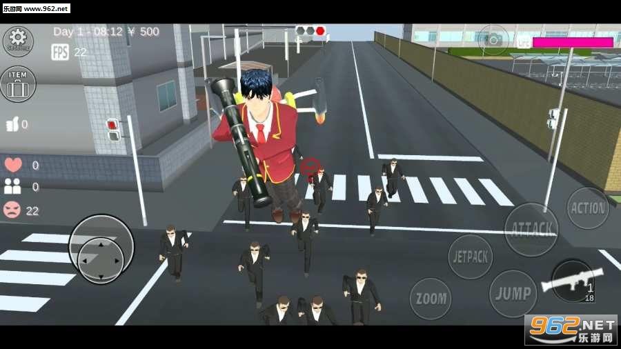 樱花校园女生模拟器安卓版v0.96(SAKURA SchoolSimulator)截图2