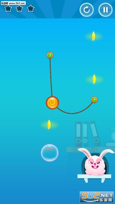 兔子割绳子游戏v1.0_截图0