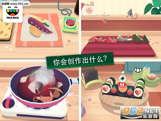 托卡小厨房寿司游戏v1.0(Toca Kitchen Sushi)截图2