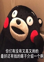熊本熊着急脱单的你表情包图片