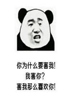 熊猫头强撩表情包图片